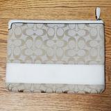 Coach Accessories   Coach Tablet Ipad Holder Sleeve   Color: Tan/White   Size: Os