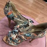 Nine West Shoes   Ninewest Floral Platforms   Color: Blue/Green   Size: 9