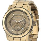 Michael Kors Accessories | Michael Kors Unisex Watch Mk-8227 Runway Chronograph | Color: Brown/Gold | Size: Os