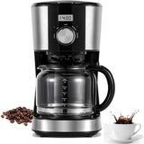 Seefaaty 5-Cup Programmable Coffee Maker in Black, Size 13.8 H x 10.8 W x 7.2 D in | Wayfair I88ZXX200430144