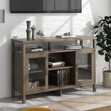 Highlights TV Stand Storage Cabinet Sideboard Console Table Entertainment Center in Gray, Size 35.4 H in | Wayfair 11txh1121101313