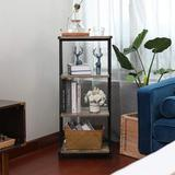 17 Stories 4 Tier Multifunctional Display Shelf Rack in Black/Brown, Size 37.7 H x 16.5 W x 11.0 D in   Wayfair C578DD55C0454AF9B6694DF5C7326D51