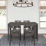 Rosalind Wheeler 4Person Counter Height Dining Set in Gray, Size 36.0 H in   Wayfair 3BD803F29BCF4EEF8561736AB226BFF5