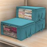 Latitude Run® Non-Woven Organizer Folding Clothes Storage Bags Quilt Under Cabinet Storage Box Dustproof Closet Finishing Boxes | Wayfair