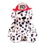 Manhattan Toy Stuffed Animals Multicolor - Black & White Dalmatian Firefighter Plush Toy