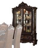 Bloomsbury Market Caerwen Lighted Curio Cabinet Wood in Brown, Size 92.0 H x 54.0 W x 21.0 D in   Wayfair 8230F9131A3241FDBD5672B836A64242