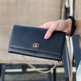 Gucci Bags   New, Unused Black Leather Gucci With Gold Chain. Gift Bag Gift Box, Bag, Cert.   Color: Black   Size: Os