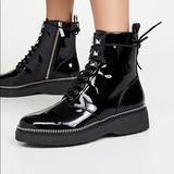 Michael Kors Shoes | Michael Kors Haskell Patent Leather Combat Boot 8 | Color: Black | Size: 8