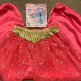 Disney Other | I Dream Of Genie Pants And Inflatable Bottle Xs Pants Halloween Costume Cosplay | Color: Red/Brown | Size: Os
