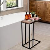 17 Stories Side Table, Industrial End Table, Vintage Bedside Table w/ Sturdy Metal Frame For Living Room, Bedroom & Small Spaces, Easy Assembly