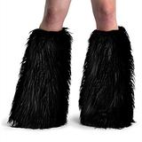 Faux Fur Boot Sleeves (Black/Fur;One Size)