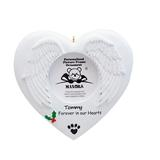 Maxora Personalized Ornaments Christmas Ornament Forever In Our Hearts Photo Frame in White | Wayfair PR916