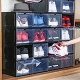 Rebrilliant 4 Pack Shoe Storage Box, Clear Plastic Stackable Shoe Organizer For Closet, Drop Front Shoe Box,Magnetic Door, Sneaker Storage Shoe Box