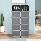 Rebrilliant Shoe Organizer Cubby Storage Shoe Rack Cabinet For Closet Cube Shoe Shelf For Entryway Expandable For Heels Boots Slippers, 7 Tier