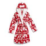 Vera Bradley Women's Bath Robes Reindeer - Reindeer Red Intarsia Cozy Life Jacquard Fleece Robe - Women