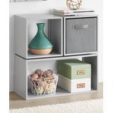 Whitmor Storage Bins Alloy - Alloy Gray Three-Piece Clip & Cube Organizer