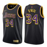 Nike Shirts   Men'S Lakers #34 Shaquille O'Neal Black Jersey - Earned Edition   Color: Blue/White   Size: Various