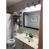 "Alchemy Daily Industrial Pipe Bathroom Shelf,Rustic Wood Wall Mount Shelf w/ Towel Bar,24"" Black Matte Towel Racks, Size 29.0 H x 24.0 W x 9.8 D in"