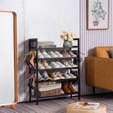 Rebrilliant Bamboo Shoe Rack,5 Tier Wooden Shoe Shelf Storage Organizer,perfect For Entryway,hallway,closet Or Living Room | Wayfair
