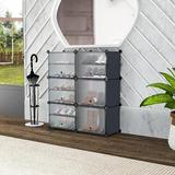 Rebrilliant Shoe Rack Organizer Plastic Shoe Storage For Entryway Expandable Shelf Free Standing Closet Cabinet, Portable Modular Bookcase | Wayfair