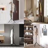 Latitude Run® Coat Rack, Free-Standing Metal Coat Racks Hall Tree Entry-Way Furniture Best For Hanging Up Jacket, Purse, Hand-Bag, Cloth, Hat