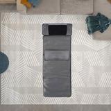 Inbox Zero Folding Massager Cushion Massage Chair Pad, Speed Adjustment Portable Foam Padding Heated Shiatsu Vibration Black | Wayfair