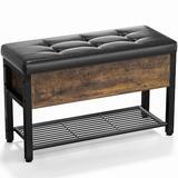 Loon Peak® Vowinckel Upholstered Flip Top Storage Bench, Size 18.1 H x 28.9 W x 11.8 D in   Wayfair 8E17241546DD468890C302ACA649F043