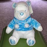 Disney Toys   Disney Snowflake Pals White Plush Winnie The Pooh   Color: Blue/White   Size: Approximate 12