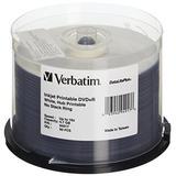 Verbatim DVD+R 4.7GB 16X DataLifePlus White Inkjet Printable, Hub Printable - 50pk Spindle - 94917