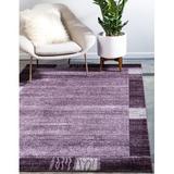 Red Barrel Studio® Ryang Purple Area Rug Polypropylene in Brown/Indigo, Size 144.0 H x 108.0 W x 0.5 D in   Wayfair