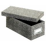 Globe-Weis/Pendaflex Fiberboard Index Card Storage Box, 3 x 5 Inches, Black Agate (93 BLA)