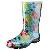 Sloggers Women's Waterproof Rain and Garden Boot with Comfort Insole, Midsummer Blue, Size 8, Style 5002BL08