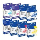 New Genuine Epson Cartridges R800 R1800 Full Set #54