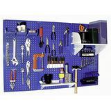 Wall Control 30-WRK-400BUW Standard Workbench Metal Pegboard Tool Organizer,Blue/White