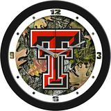 SunTime Texas Tech Red Raiders - Camo Wall Clock