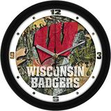 SunTime Wisconsin Badgers - Camo Wall Clock
