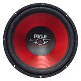 """Car Vehicle Subwoofer Audio Speaker - 10 Inch Red Electro-Plated Cone, Red Plastic Basket, 1.5"""" Kapton Voice Coil, 4 Ohm Impedance, 600 Watt Power, for Vehicle Stereo Sound System - Pyle PLW10RD"""