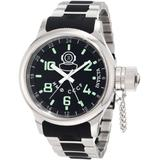 Invicta Men's 7241 Signature GMT Black Dial Stainless Steel and Black Polyurethane Watch