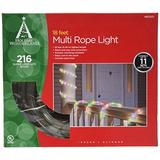 Noma/inliten 55131-88 Christmas Lights Multi Color Rope Light Set Tube Lights 18'