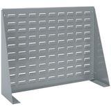 Akro-Mils 98600 Louvered Steel Work Bench Storage Rack for Mounting AkroBin Storage Bins, (28-Inch W x 8-Inch D x 20-Inch H), Gray