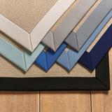"St. Tropez Indoor/Outdoor Rug - Sunbrella Solid Border Canvas Taupe Sunbrella Runner 2'6"" x 7'8"" - Ballard Designs"