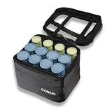 Conair Instant Heat Compact Hot Rollers w/Ceramic Techology; Black Case with Blue and Green Rollers, 1 Count