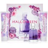 Halloween by J. Del Pozo for Women - 4 Pc Gift Set 3.4oz EDT Spray, 5oz Fruit Body Lotion, 5oz Shower Gel Bubbles, 0.15oz EDT Splash