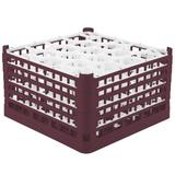 Vollrath 52755 9 Signature Lemon Drop? Glass Rack w/ (20) Compartments - Burgundy