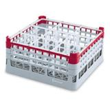 Vollrath 52777 9 Signature Glass Rack w/ (25) Compartments - Burgundy