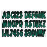 Hardline Products TEBKG200 Series 200 Forest Green/Black Factory Matched Registration Number Kit