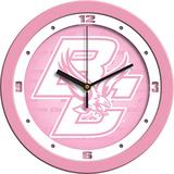 SunTime Boston College Eagles - Pink Wall Clock
