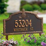 Standard Pineapple Address Plaque - Bronze, Wall - Frontgate