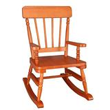 Wildkin Kids Rocking Chair for Boys and Girls, Perfect for Sitting or Lounging in Playrooms or Bedrooms, Classic Design Wooden Rocker Measures 23 x 17.5 x 29 Inches, Assembly Required (Maple Finish)