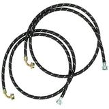 Whirlpool 8212638RP 6-Foot Industrial Braided Fill Hose with 90 Degree Elbow, 2-Pack